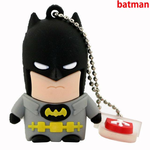 Superhero Avenger/Superman/Batman/Spider Man pendrive Usb 2.0 Usb flash drive 8GB 16GB 32GB 64GB