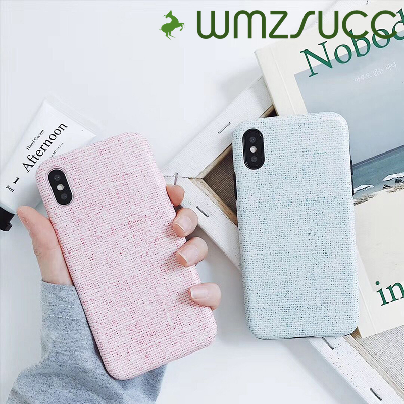 WMZSUCC Fashion Fresh Style Wove Check cases for iPhone 8 X Case For Apple iphone 7 6SPlus Back Cover Capa Fundas Coque