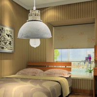 New Gray Industrial Retro Style Art Pendant Light Edison Light Bulb American Village Lamps Hanging