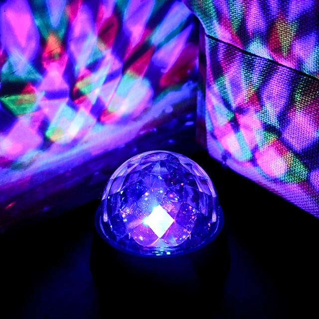Luces de la Etapa de la Bola mágica cristalina brillante Rotación luces LED Luz de la etapa de Luz Láser bola mágica lámpara de habitaciones lámpara Heracleum