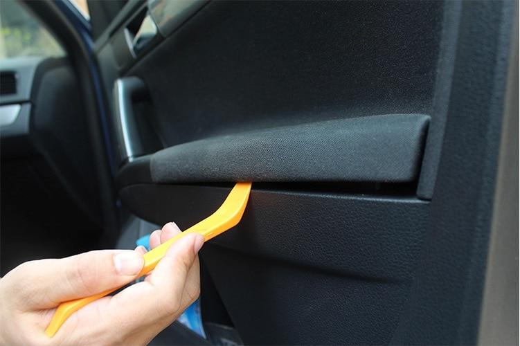 12 PCS Plošča vrat na vratih avtomobila Zvočna demontaža - Dodatki za notranjost avtomobila - Fotografija 6