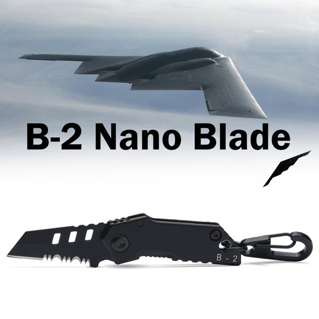 2018 B-2 Bomber Nano Blade Utility Multi Pocket Knife Mini Key Chain Tactical EDC Survival Camping Outdoor Knife Tools Repair