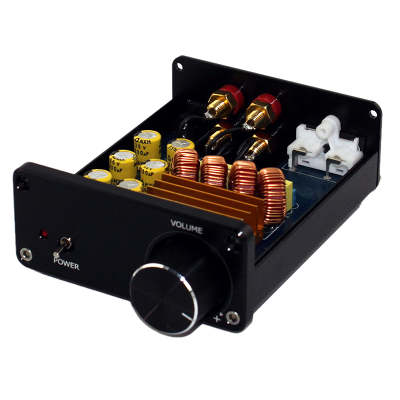 Mini Digital Audio Power Amplifier HiFi TPA3116 2.0 Stereo Music 2-Channel 50W*2 Black Chassis Power Amplifier
