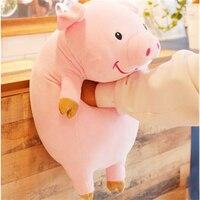 Fancytrader Big Soft Piggy Plush Toys Giant 35inch Kawaii Stuffed Animal Pig Pillow Doll for Children Gift