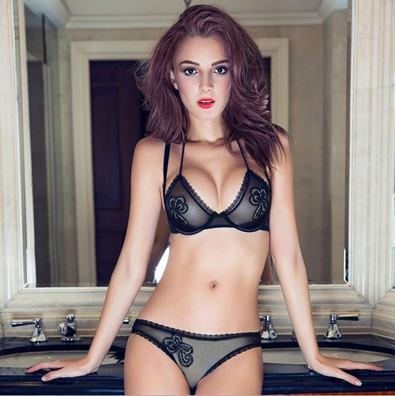 Lisacmvpnel 2016 новое прибытие роскошная женщин сексуальный бюстгальтер комплект нижнего белья push up холтер женщины кружевной бюстгальтер сексуальный комплект нижнего белья
