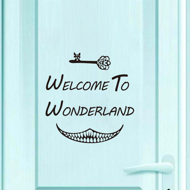 Alice In Wonderland Welcome To Wonderland Wall Decal