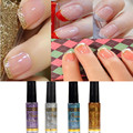 2017 New Women Fashion Glitter Nail Polish Strokes Manicure Nail Art Polish Painting Pen tool 4 colors Optional For Manicure
