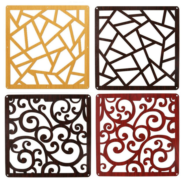 4 Pieces High Qulity Fashion Hanging Screen Wood Partition Bedroom Wall  Post Entry Living Room Home Decoration Size 39/29CM