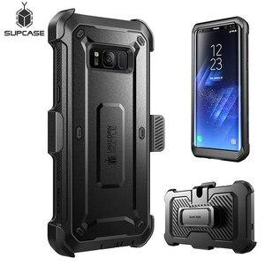 Image 2 - SUPCASE для Samsung Galaxy S8 Plus Чехол со встроенной защитной пленкой для экрана UB Pro прочная кобура для всего тела для Galaxy S8 +