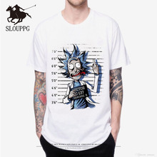 SLOUPPG New 2019 T Shirts Men Rick And Morty Printed T-shirt Round Neck Top Tees Man Funny Cartoon Short Sleeve Summer Clothing1
