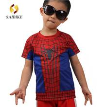 Super Hero The Amazing Spider-Man cycling jersey short T-shirt kids  children s Transformers ee232a5db