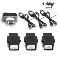 NEW! 3 In 1 Multifunctional Battery Charger 7.4V 1100mA Quadcopter Battery Adapter for SG900 S Drone Accessories