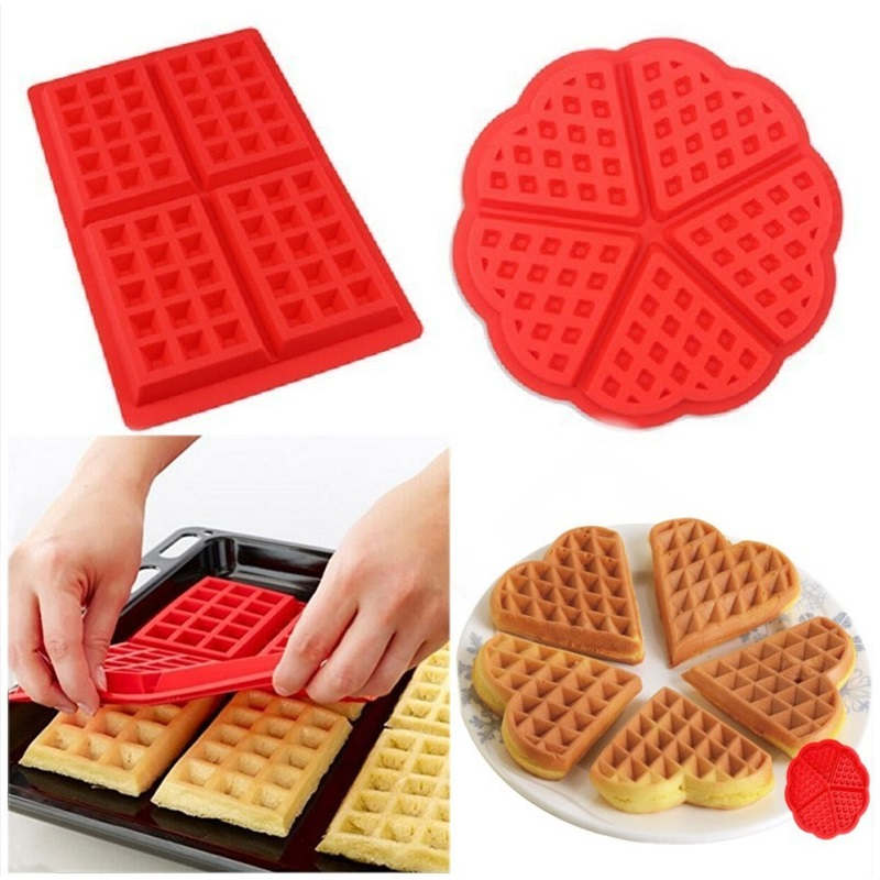 2 Styles Waffles Cookie Silicone Mould Chocolate Mould