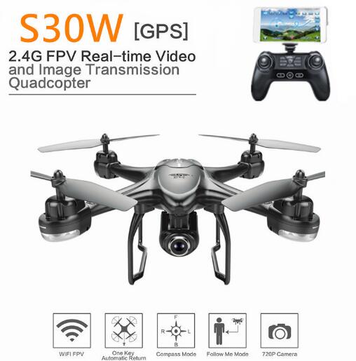 New SJRC S-SERIES S30W Double GPS Dynamic Follow WIFI FPV With 720P Wide Angle Camera RC Drone Quadcopter Racing VS MJX Bugs6