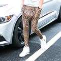 Hot new Four seasons pants leopard print harem pants elastic waist  trousers casual pants singer hairstylist Nightclub pants