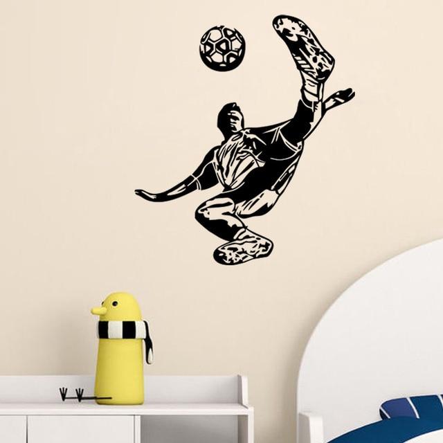 Sport Fußball Kinderzimmer Dekor Football Poster Vinyl Cut Wandtattoos  Fußball Aufkleber Schablonen Freies Verschiffen