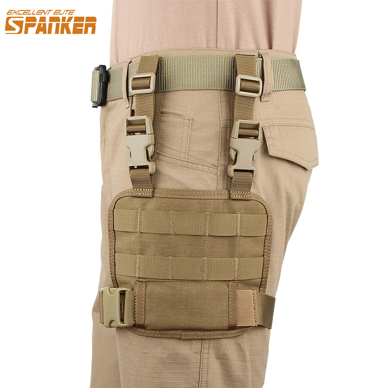 EXCELLENT ELITE SPANKER Molle Outdoor Military Mesh Tools Pouch Tactical Leg Bag Hunting Bags Pack Accessory Magazine Pouches ...