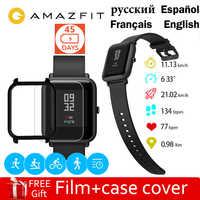 Amazfit Bip inteligentny zegarek 45 dni w trybie gotowości Huami Mifit GPS Sportwatch przypomnienie połączeń monitorowanie snu dla IOS Android