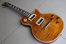 Großhandel-LP Slash Appetite E-gitarre, Hochwertigen Tiger Braun Burst Mahagoni Korpus E-gitarre Bier Wurzel 111210