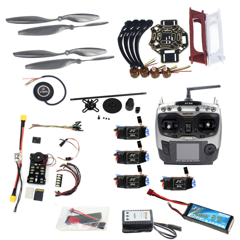 Full Set DIY Drone Model Kit 4-axle Aircraft Quadcopter HJ 450 Frame PX4 Flight Control 920KV Motor GPS AT9S Transmitter Props Full Set DIY Drone Model Kit 4-axle Aircraft Quadcopter HJ 450 Frame PX4 Flight Control 920KV Motor GPS AT9S Transmitter Props