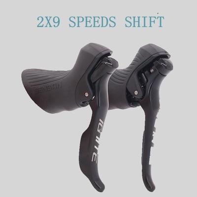 Переключатель передач для шоссейного велосипеда SENSAH 2x 8/2x9, скоростной тормозной рычаг, велосипедные переключатели, групповой набор для зад...