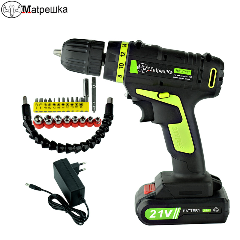 цена на 21V Electric Screwdriver Household Rechargeable Mini Drill Multifunction Cordless Screwdriver 1 Battery + 21 Gifts
