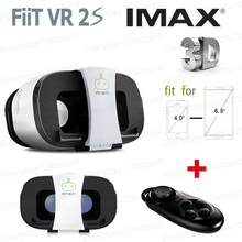 2017 fiit caja vr vr vr 2 s 2.0 shinecon gafas de realidad virtual gafas 3d google cartón + bluetooth gamepad mando a distancia