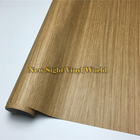 Oak Wood Textured Vinyl Wrap Film Adhesive Backed Decal For Floor Furniture Car Interier Size 1