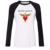 Mulheres T-shirt Banda de Rock Bon Jovi iDzn Asa Coração Espada Raglan padrão Menina Manga Longa camiseta Casual Lady Tee topos