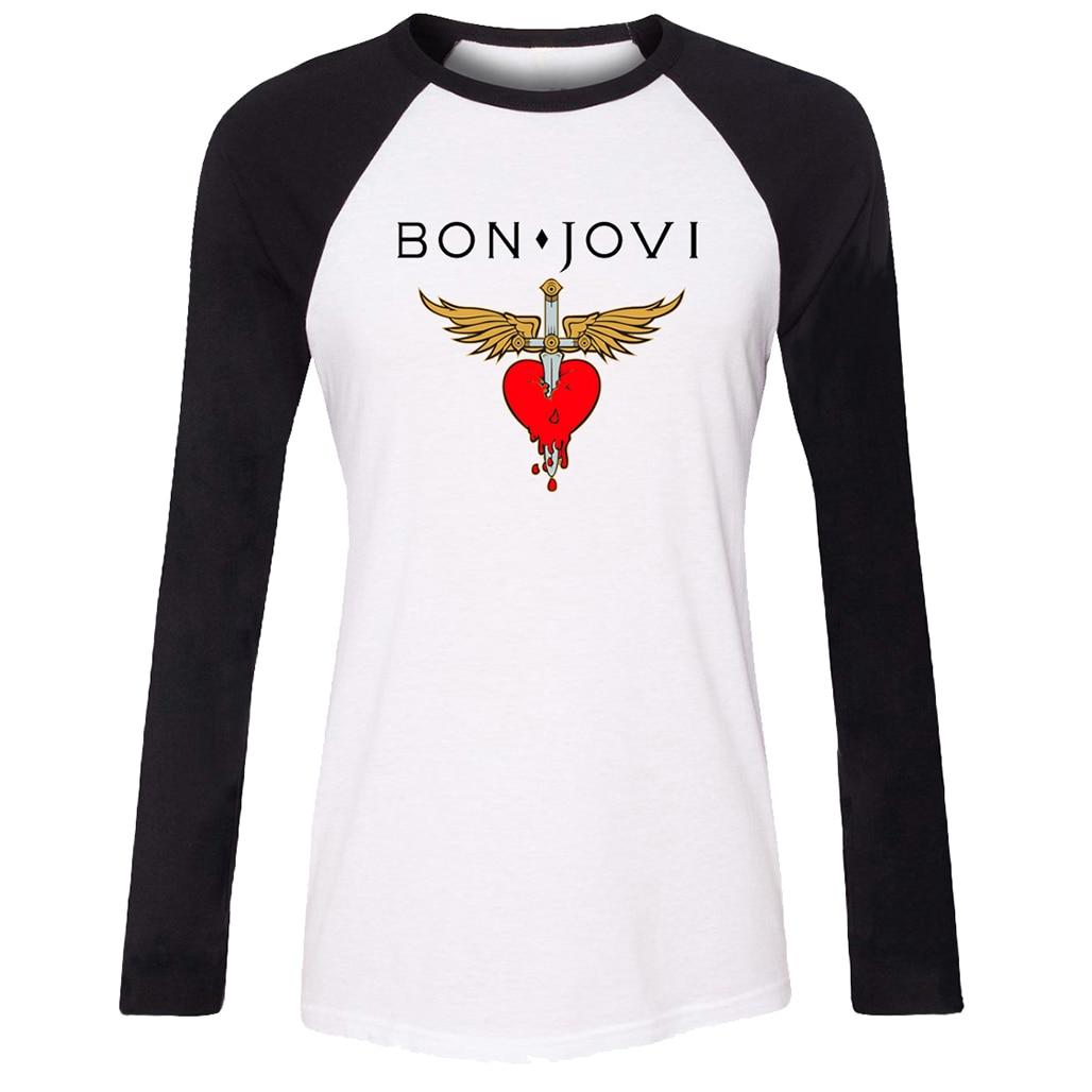 idzn women t shirt bon jovi rock band wing heart sword pattern raglan long sleeve girl t shirt. Black Bedroom Furniture Sets. Home Design Ideas