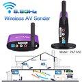 Pat-650 300 m 5.8g wireless av rca audio video transmisor receptor remitente para stb dvd satélite iptv android cable tv