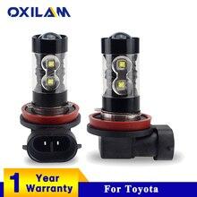 OXILAM H11 LED Bulb H3 H8 H10 HB3 Car Led Fog Lamp for Toyota Corolla Avensis Yaris Rav4 Auris Prius Prado Camry Running Lights