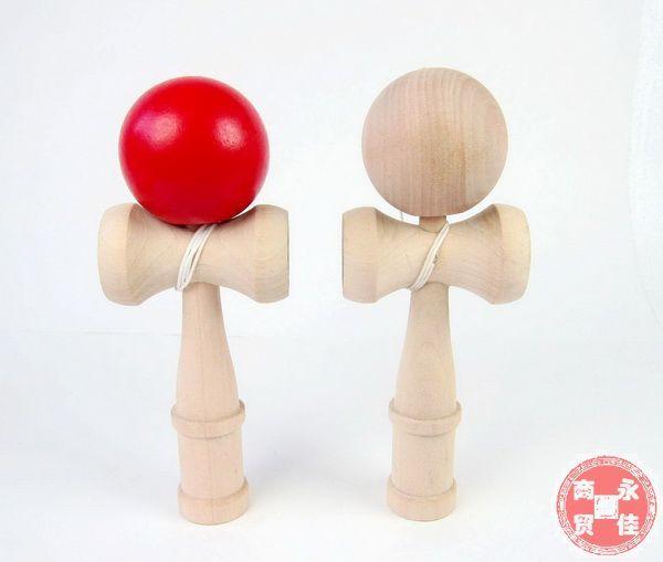 Livraison gratuite longueur 18*5.5 CM Kendama Ball japonais traditionnel bois jeu jouet enfants cadeaux éducatifs 2 pcs/lot