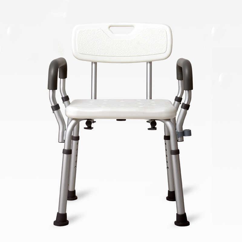 Yaşlı Banyo duş oturağı ile Kol Dayama Arkalığı Tuvalet Sandalyeleri duş sandalyesi Hamile Kadınlar Spa Tezgahı Uygun Banyo Sandalye