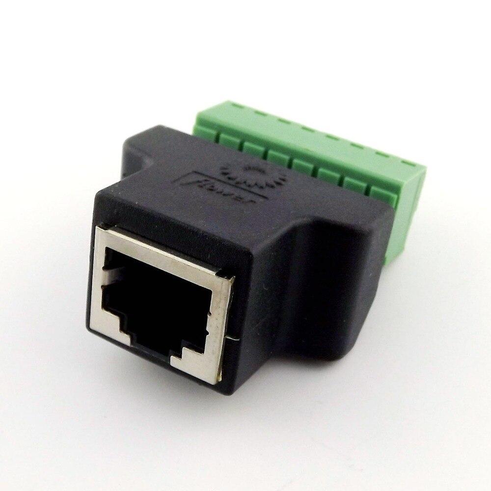 20x Ethernet RJ45 8P8C CAT femelle Jack à AV vidéo vis Terminal 8 broches ADSL connecteur adaptateur-in Prises et connecteurs from Electronique    1