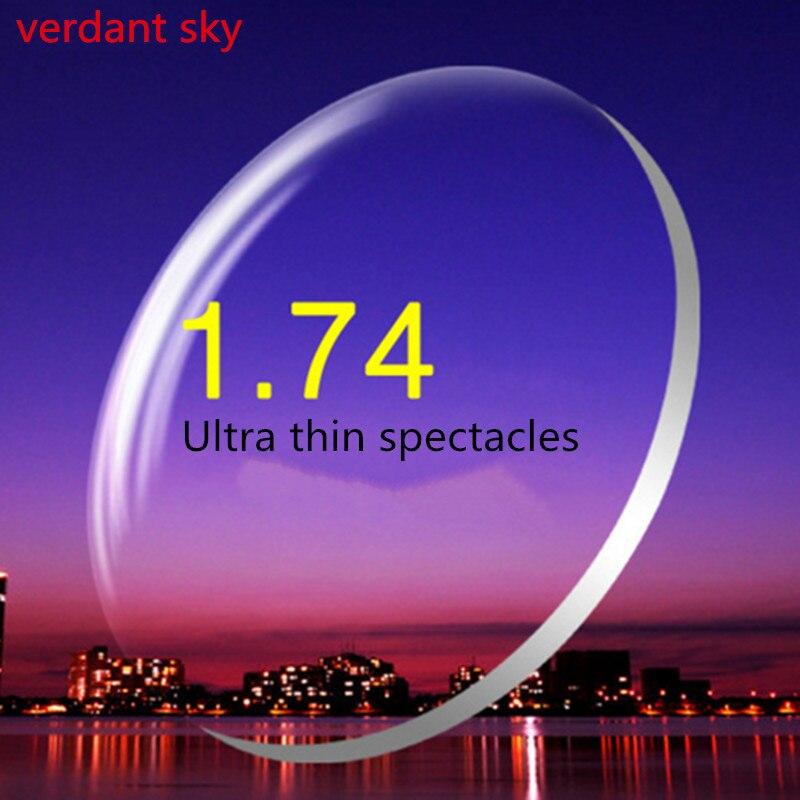 2017 Ultra Mince Anti UV 1. 74 INDEX LENTILLES HMI REVÊTEMENT Lentilles Lunettes Personnalisé Faire Prescription OPTIQUE Lentilles