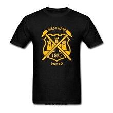 bb02b03642709 Camiseta divertida de los hombres camiseta blanca camisetas negro camiseta  hombres West Ham United diseño(