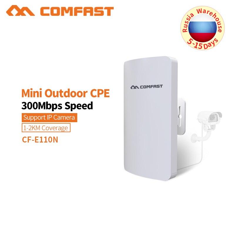 COMFAST 2.4G 300 M extérieur CPE routeur WiFi pont Point d'accès AP routeur extérieur Mini sans fil WIFI Extender répéteur AP CF-E110N