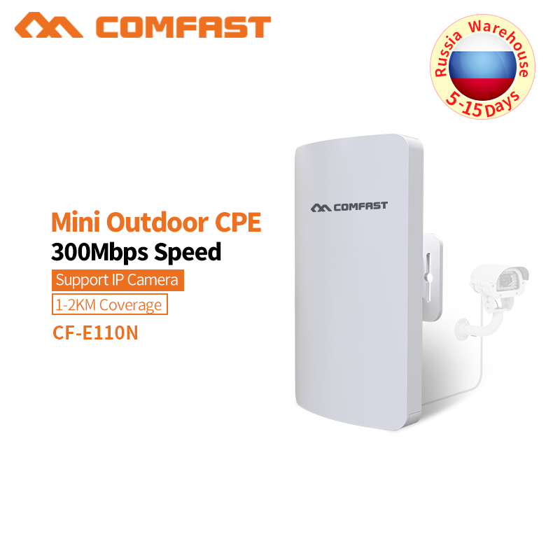 COMFAST 2.4G 300M Outdoor CPE Router WiFi Bridge Access Point AP Router Outdoor Mini Wireless WIFI Extender Repeater AP CF-E110N brice запонки