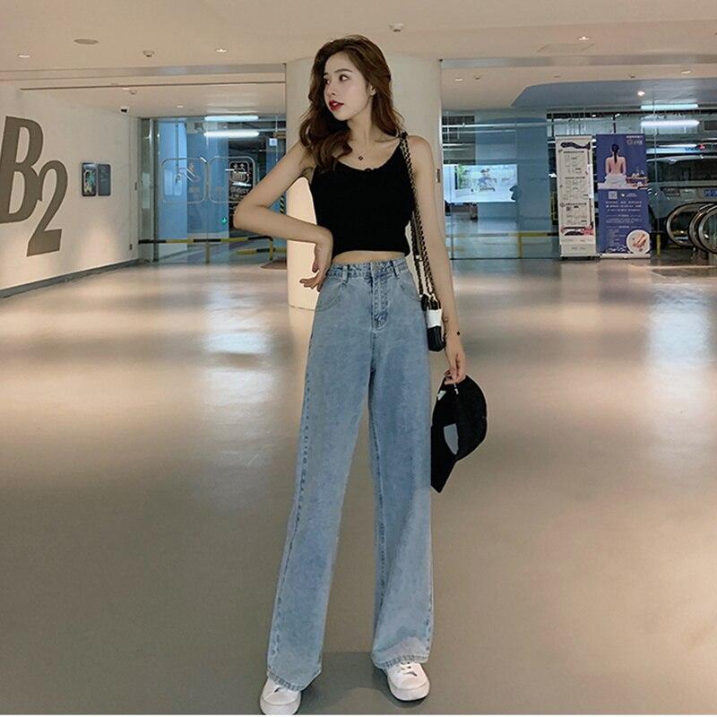 JUJULAND Vintage High Waist Jeans Woman 2019 Blue Mom Boyfriend Jeans For Women Denim Pants Female Trousers Streetwear 3215