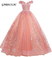 New Off The Shoulder Dress Sweet 16 Quinceanera Dresses Ball Gown Long Prom Dress Lace Appliques G0126
