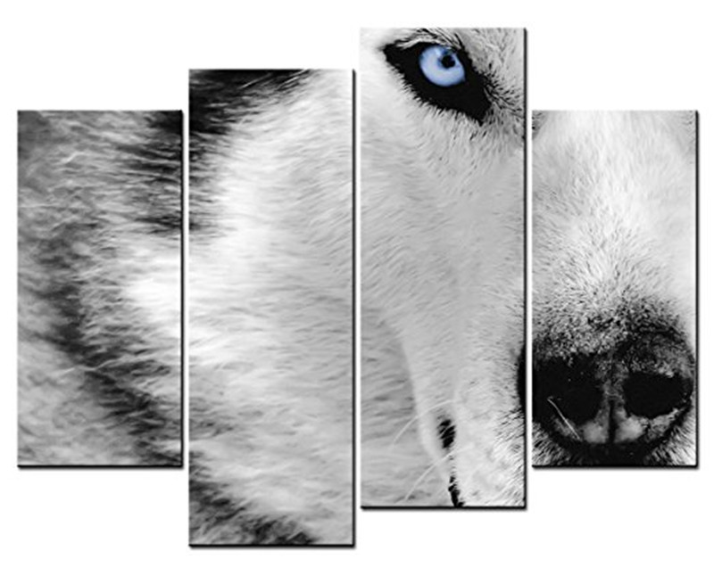 hd printed wolf eyes group painting canvas print room decor print poster picture canvas no frame in painting calligraphy from home garden on - Wolf Picture Frames