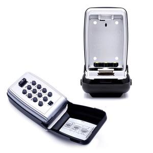 Image 4 - Металлический шкафчик для ключей с кодовым замком, Настенный Шкафчик для ключей с кодовым креплением, Keepr, ящик для хранения для домашней компании, фабричное использование