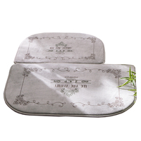 2pcs Set Non Slip Bathroom Mat In Home Soft Anti Slip Carpet For Bathroom Tapete Banheiro