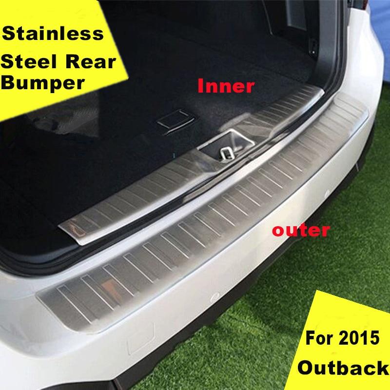 აქსესუარები FIT FOR 2015 2016 2017 2018 SUBARU OUTBACK უკანა ბამპერის დამცავი დამცავი ტვირთი BILL SILL Plate TRUNK LIP CAR STYLING