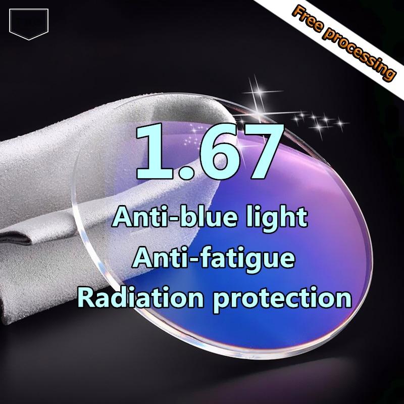 Kurzsichtige Qualität Anti 67 1 Computer Objektiv Anti Linse Strahlenresistente Rezept blau fatigue Hohe q8qUE