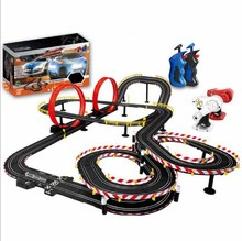 In Stock Hot Sale Electric RC Track Sets For Kids gift toy railway tracks interaction parent-child cars remote rail car