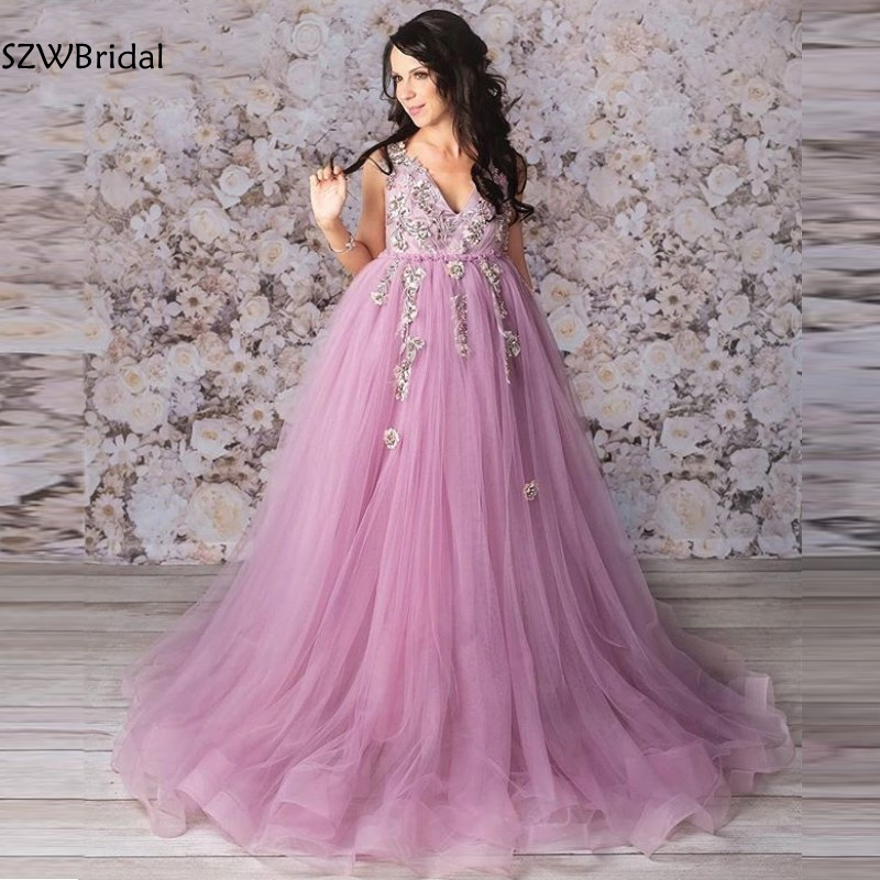 New Arrival V Neck Appliques Lace   evening     dress   2019 Robe de soiree abiye   Evening   gowns Abendkleider Formal   dress   vestido