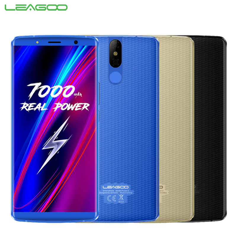 Leagoo Puissance 5 Mobile Téléphone 5.99 pouce 6 gb RAM 64 gb ROM MT6763V Octa base Android 8.1 Face Unlock 13MP Caméra 7000 mah Smartphone