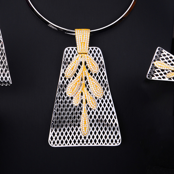 4PCS Big Pendant  Jewelry Set  2